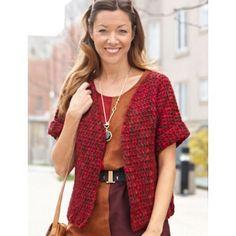 Anywhere Short-Sleeved Cardi Free Crochet Pattern ⋆ Crochet Kingdom