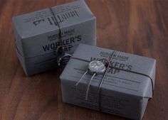 This packaging design by Hovard Design was created for the company 'Hudson Made: Worker's Soap'. All of the packaging is manufactured locally and the Soap Packaging, Pretty Packaging, Product Packaging, Packaging Ideas, Honey Packaging, Black Packaging, Simple Packaging, Design Packaging, Retail Packaging