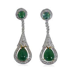 Doppeltes Entzücken! Wenn Glamour alles bewegt, fehlen solche Ohrhänger kaum Luxus Smaragd Ohrstecker mit 100 Diamanten 3,28 und 23,29ct Smaragd. #Schmuck #SchmuckBoerse #vintage #smaragd #diamant #ohrring #ohrringe #ohrstecker #chandelier