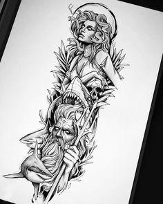 Egyptian Tattoo Sleeve, Tribal Sleeve Tattoos, Sleeve Tattoos For Women, Geometric Tattoos, Arm Tattoos Drawing, Half Sleeve Tattoos Sketches, Tattoo Sketches, Sketch Drawing, Tattoo Ink