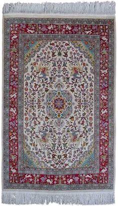 Turkish Rugs - Hereke Silk Carpet  Width84.00 cm (2,76 Feet) Lenght133.00 cm (4,36 Feet)