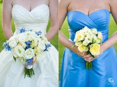blue and yellow wedding colors - Google Search