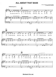 All About That Bass Sheet Music Meghan Trainor Download All About That Bass Piano Sheet Music Free PDF Download