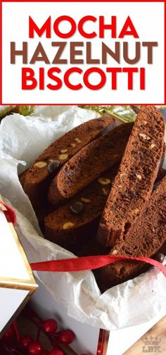 Mocha Hazelnut Biscotti is prepared with deep, rich cocoa, espresso powder, coffee liqueur, chocolate espresso beans, and roasted hazelnuts. This is one very serious biscotti recipe! #biscotti #cookies #mocha #espresso #chocolate #christmas #holiday #baking Easy Cookie Recipes, Brownie Recipes, Baking Recipes, Dessert Recipes, Easy Recipes, Chocolate Covered Espresso Beans, Chocolate Espresso, Chocolate Flavors, Chocolate Chip Cookies