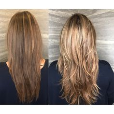 #Bronde Vibes! Brighten up the #brunette by adding #balayage!