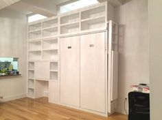 Murphy Bed Ideas - modern - Living Room - New York - Lancaster Handcraft LLC