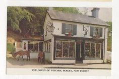 The Coven Of Witches 1969 Burley New Forest Postcard Place Names, Coven, Hampshire, Witches, Worlds Largest, Mythology, Gazebo, Places To Go
