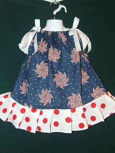 4th of July Dress 3T Girls Custom Boutique Couture & Red Flower Hair Bow NEW! -for sale now on ebay. Search ebay for item number 200931150329