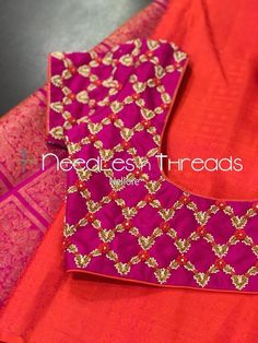 53 Trendy ideas for embroidery dress diy sweets Pattu Saree Blouse Designs, Simple Blouse Designs, Stylish Blouse Design, Fancy Blouse Designs, Bridal Blouse Designs, Blouse Neck Designs, Dress Designs, Designer Blouse Patterns, Latest Dress Patterns