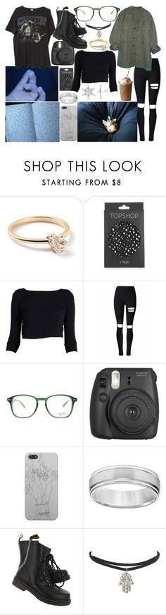 """""""Untitled #223"""" by jade-bellex ❤ liked on Polyvore featuring Ippolita, Topshop, Brandy Melville, Ray-Ban, Fujifilm, Simply Vera and Dr. Martens"""