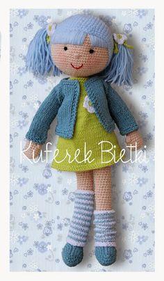 Kuferek Bietki: Anastazja -lalka na szydełku/ Anastasia Gehäkelte Puppe