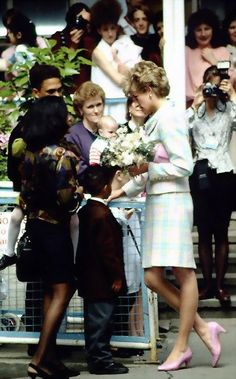 June 2, 1993: Princess Diana during a visit to a Relate Center Taunton, Somerset.