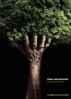 Publicité - Creative advertising campaign - Humanity and Nature are One Creative Advertising, Advertising Poster, Advertising Campaign, Advertising Design, Advertising Ideas, Social Campaign, Poster Design, Ad Design, Flyer Design