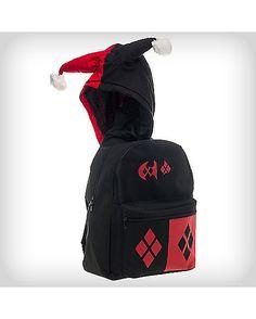 Harley Quinn Suit Up Hooded Backpack - Spencer's