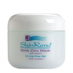 Beta Zinc Mask with Sulfur for Acne Prone Skin by Skin Renu by Skin Renu. $39.99. Skin Renu® Beta Zinc Mask absorbs excess oil, dries out, disinfects, and cleans skin of dead cellular debris. Corrects the commonly found zinc deficiencies in acne prone skin. Zinc is an effective anti-inflammatory nutrient. Sulfur, is a time-honored, mild antiseptic that will help manage troublesome found bacteria. The Skin Renu® Beta Zinc Mask with Sulfur formulation works very w...