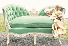mint green couch