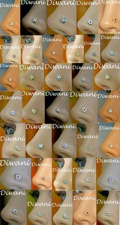 32 Ideas piercing tragus coeur for 2019 Diamond Nose Ring, Gold Nose Rings, Nose Ring Stud, Nose Ring Jewelry, Nose Piercing Jewelry, Tragus Earrings, Body Jewelry, Tongue Piercings, Cartilage Piercings