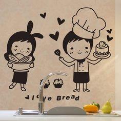 Küche Wandaufkleber Kaffee Sweet Food DIY Wandkunst Aufkleber Dekoratio  Jd