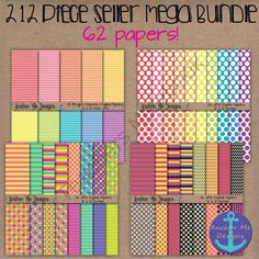 212 Piece Seller Mega Bundle- Digital Papers, Frames, Glitter Letters & Kids from Anchor Me Designs on TeachersNotebook.com -  (212 pages)  - This bundle includes 212 of my best selling graphics. This set is perfect for making AWESOME product covers and eye-catching digital lessons!