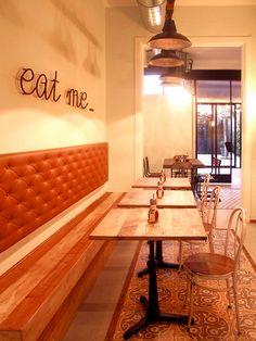 Artwork For Home Decoration Cake Shop Interior, Diy Interior Doors, Flat Interior, Cafe Interior, Interior Design, Restaurant Themes, Restaurant Concept, Pizzeria Design, Restaurant Design