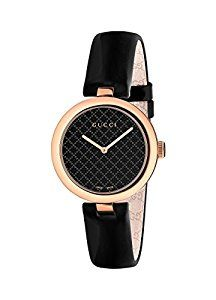 1aca53ec44b2 Amazon.com  Gucci Diamantissima Analog Display Swiss Quartz Black Women s  Watch(Model YA141401)  Watches
