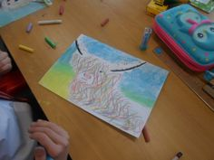 Today as part of our mini Scotland topic, we were looking at the artwork by a famous Scottish artist, Steven Brown,. We had to consider how he uses bold colours to create lively and bright painting…