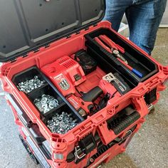 So while at #NPS17 I asked @milwaukeetool if they had plans on shipping future drill/impact driver kits or any tools in their new #packout system, versus a blow moulded case.  They said they are entertaining the idea, but nothing is confirmed yet.  Let me ask you, would you pay a slight premium for tools to come pre-packaged in proper storage? (I dont consider blow moulded cases proper storage)  Voice your opinion. What if they came prepacked in @kaizen_inserts? (He might have to ramp up…