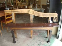 Bench made from piano parts