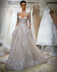 """Mi piace"": 7,261, commenti: 57 - Lazaro (@lazarobridal) su Instagram: ""Some gowns are diamonds #💍 #lazaro #behindthescenes #bridalmarket #spring2018 #sparkle #cinderella…"" How To Dress For A Wedding, Pretty Wedding Dresses, Flattering Wedding Dress, Lazaro Wedding Dress, Wedding Gowns, Dress Vestidos, Sparkle Wedding, Mermaid Dresses, Bridal Gowns"