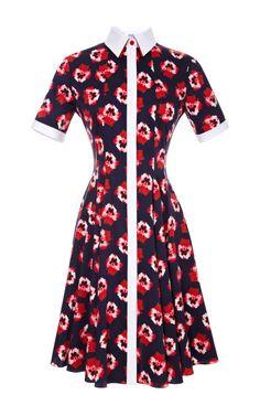 Shop Floral-Print Cotton Shirtdress by Prabal Gurung Now Available on Moda Operandi