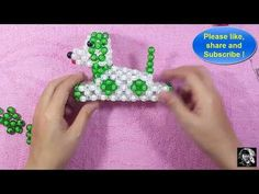 How to make a beads dolls / the bead Dog Diy Clutch, Beaded Clutch, Beaded Bags, Beading Projects, Beading Tutorials, Beading Patterns, Doll Tutorial, Beaded Animals, Beaded Flowers
