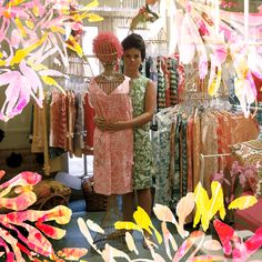 Lilly Pulitzer in her first shop in Via Mizner on Worth Avenue in Palm Beach
