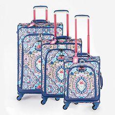 Set de 3 maletas con 4 ruedas azules y multicolor 37,8L - 64,1L - 97,4L