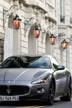 Maserati Gran Turismo...I saw one of these last month downtown Chicago and fell in love. #maserati