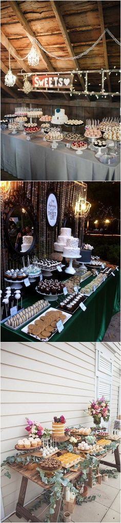rustic wedding dessert table decorations