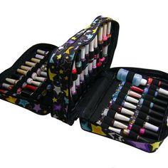 Diy Makeup Bag, Nail Polish Storage, Bag Organization, Nail Designs, Wallet, Stuff To Buy, Beauty, Manicures, Diy Bags