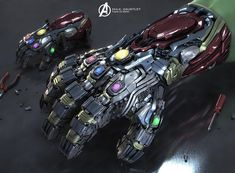 In which Iron Man's Infinity Gauntlet receives design changes. Marvel Dc Movies, Marvel Vs, Marvel Heroes, Marvel Concept Art, Walking With Dinosaurs, Iron Man Suit, Body Armor, Comic Book Heroes, Tony Stark