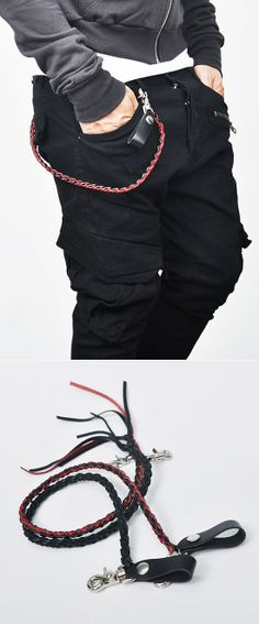 Accessories :: Gadgets :: Braided Fashion Leather Keychain-Gadget 23 - Mens Fashion Clothing For An Attractive Guy Look