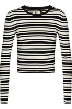 TOPSHOP UNIQUE Cropped striped knitted sweater. #topshopunique #cloth #sweater