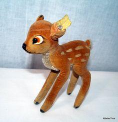 steiff deer plush, looks like Bambi!