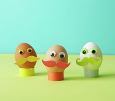 Easter egg craft ideas: Mustache egg men. So easy!