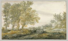 Aelbert Cuyp (Dutch, 1620–1691). Landscape with Trees (1635–91). The Metropolitan Museum of Art, New York. Rogers Fund, 1907 (07.282.14) | Cuyp's looped and choppy lines, plumped up with touches of color, bring us the beauty of the Dutch countryside in summer, when warm light flickers through twigs and foliage.