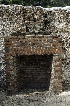 Lopsided Brick Fireplace