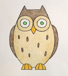 How To Draw A Cartoon Owl.  Find my Cute Toons videos on Facebook and PLEASE 'like'.  Also discover my Simeon Walker channel on YouTube.