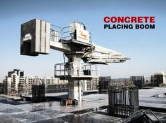 Concrete Placing Boom is fully hydraulic control and can slewing 360°