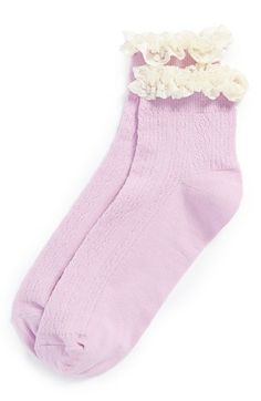 Topshop Crocheted Lace Socks | Nordstrom