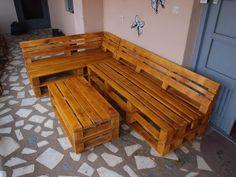 DIY Pallet L-shape Sofa Set | Pallet Furniture DIY