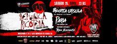 Fiesta República Ricotera! En vivo, Bendita Ursula y Paria. La #Fiesta #RepublicaRicotera llega a #Mendoza! Imperdible 1era. edición con #BenditaUrsula (#tributo a #LosRedondos) y #Paria (tributo a #Skay)! SÁ... http://sientemendoza.com/event/fiesta-republica-ricotera-en-vivo-bendita-ursula-y-paria/