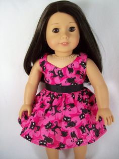 American+Girl+Doll+Clothes++Bright+Pink+Party+by+OurDollFashions