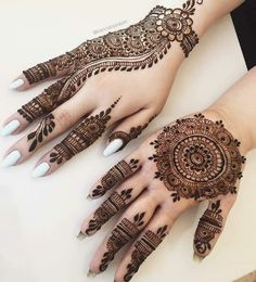 Pretty Henna Designs, Henna Tattoo Designs Simple, Finger Henna Designs, Latest Bridal Mehndi Designs, Stylish Mehndi Designs, Full Hand Mehndi Designs, Henna Art Designs, Mehndi Designs For Beginners, Mehndi Design Photos